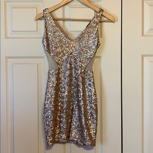 Bebe rose gold dress